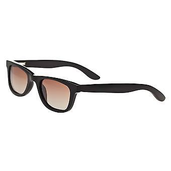 Bertha Zoe Buffalo-Horn Polarized Sunglasses - Black/Black
