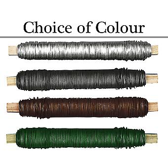 0.6mm Coloured 100g Reel Metal Floristry Wire