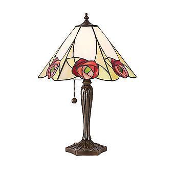 Ingram Medium Tiffany stil bordslampa - interiör 1900 64184