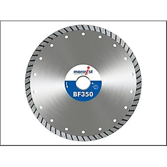 Marcrist Bf350 Turbo Diamond Blade 125mm X 22.2mm