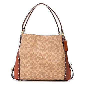 Coach Brown Pvc Shoulder Bag