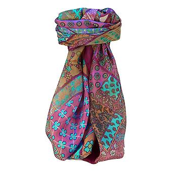 Moerbei zijde traditionele vierkante sjaal Qia Violet van Pashmina & Silk