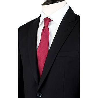 Dobell Mens Black Herringbone Stripe Suit Jacket Regular Fit Peak Lapel