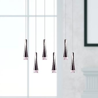 New Pendant Light Chandelier Ceiling Living Room Six Pendant Rectangular Canopy