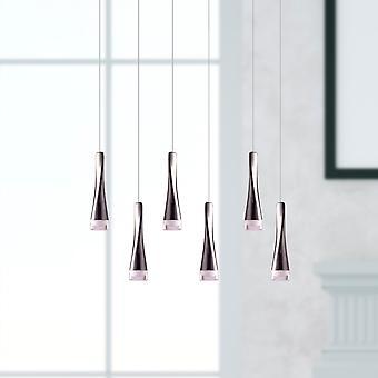 Nieuwe hanger licht kroonluchter plafond woonkamer zes hanger rechthoekige luifel