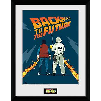 Back To The Future Doc And Marty Collector Print 16x12