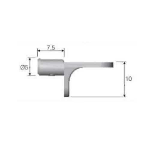 Branchez dans armoire de cuisine Supports de tablette 5mm, pinces, épingles, goujons, 150 kg * d'étagères