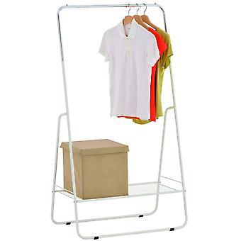 Open kast / metalen kleren spoor met plank - Zilveren / Wit