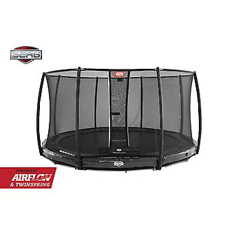 BERG InGround Elite 330 11ft Trampoline + Safety Net Deluxe Grey