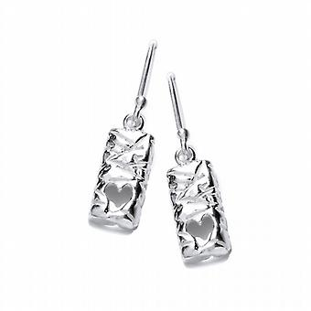 Cavendish French Silver Heart Ingot Earrings