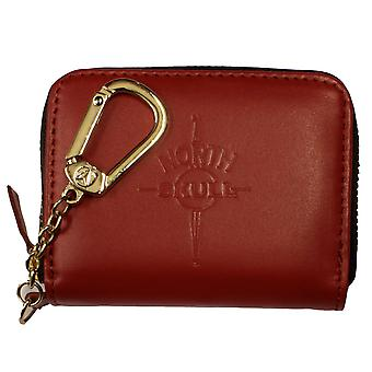 NorthSkull Red Matte Leather Coin Purse Wallet