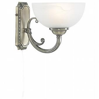 Searchlight 3771-1AB Windsor Wall Light in Antique Brass