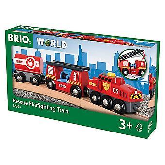 بريو الإنقاذ حريق القطار