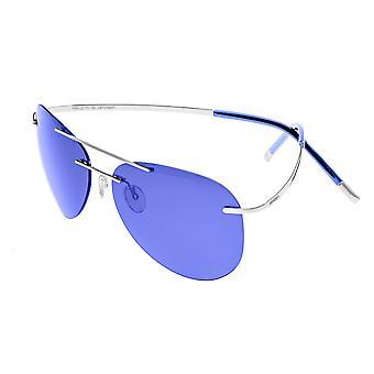 Breed Luna Polarized Sunglasses - Silver/Purple-Blue