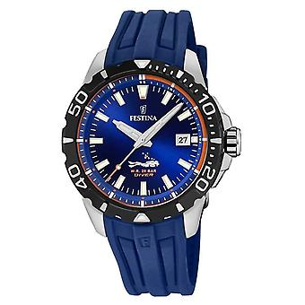 Festina | Mens Divers | Blue Rubber Strap | Blue Dial | F20462/1 Watch