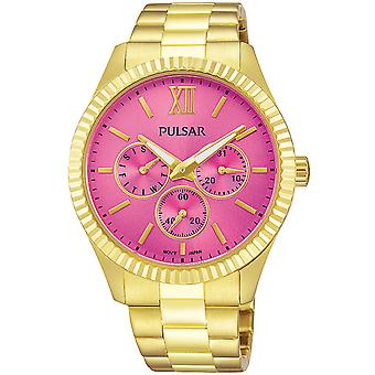 Pulsar Casual Watch for Japanese Quartz Analog Woman with Stainless Steel Bracelet PP6218X1