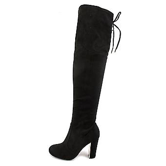 Material Girl Womens mpriyanka Suede Round Toe Knee High Fashion Boots