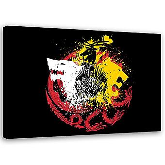 Canvas Wall art abstraction Modern Image Multicolor
