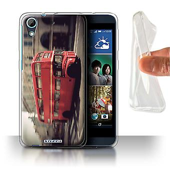 STUFF4 Gel/TPU Case/Cover for HTC Desire 626G+/Red Bus/London England