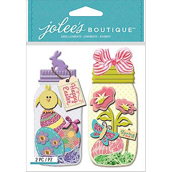 Jolee's Boutique Dimensional Stickers-Easter Egg Jars E5021769