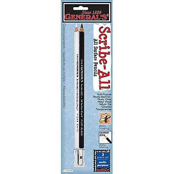 Scribe All Pencils 2 Pkg Black & White 1256Gmp