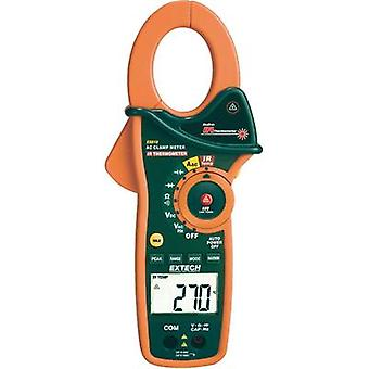 Current clamp, Handheld multimeter digital Extech EX810 Calibrated to: Manufacturer standards IR thermometer CAT III 600