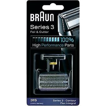 Foil and cutter Braun 31S - Kombipack 5000 Silver 1 Set