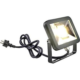 LED outdoor floodlight 20 W Warm white Heitronic Leeds 37233 Black