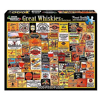 Great Whiskies (labels) 1000 piece jigsaw puzzle 760mm x 610mm  (wmp)