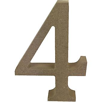 Smooth MDF Blank Shape-Serif Number 4 TCMDF004