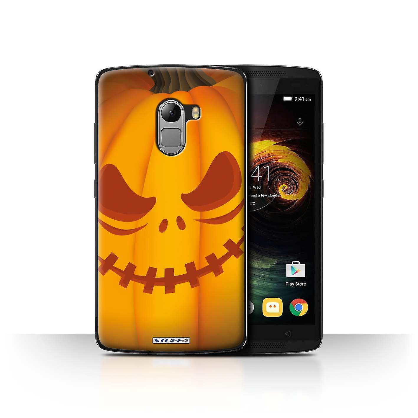 STUFF4 Case Cover for Lenovo Vibe K4 Note Scary Halloween Pumpkin Stuff4 Housses pour téléphones mobiles