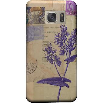 Flower cover with stamps for Galaxy S7