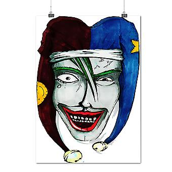 Matte or Glossy Poster with Joker Scary Clown Horror Joker Laugh | Wellcoda | *n21