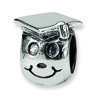 Sterling Silver Reflections Kids Happy Graduate Bead Charm