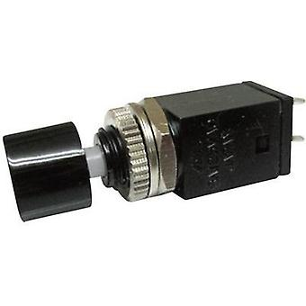 Pushbutton 125 Vac 3 A 1 x Off/(On) Miyama DS-410, BLACK momentary 1 pc(s)