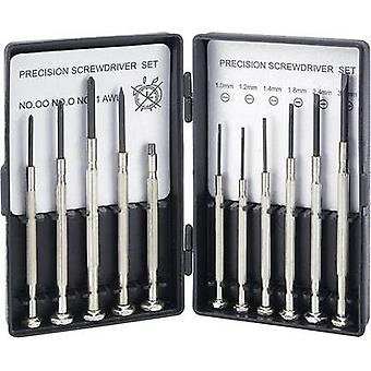 Electrical & precision engineering Screwdriver set 11-piece Basetech Slot, Phillips