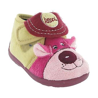 Mirak Bungle Childrens Girls Touch Fastening Slippers Textile TPU Footwear Shoes