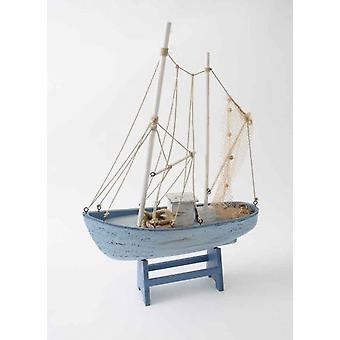 42cm élégant filet en bois chalutier bateau Ocean amoureux l'ornement de décoration