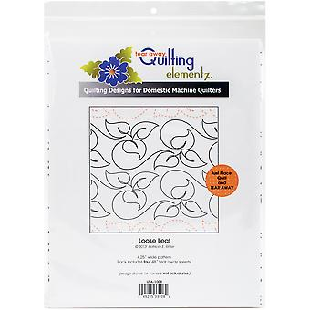 Quilting Creations Printed Tear Away Quilting Paper 4/Pkg-Loose Leaf 4.25