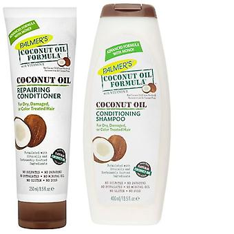 Palmers Coconut Oil Formula Conditioning Shampoo 400ml & Repairing Conditioner 250ml Pack