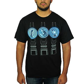 Doctor Who Characters Men's Black T-shirt