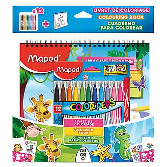 Maped Cuaderno Actividades Y 12 Rotulador (Toys , School Zone , Notebooks And Folders)