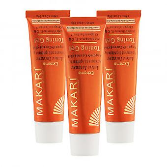 Makari Extreme Carrot & Argan Gel - 3 Packs
