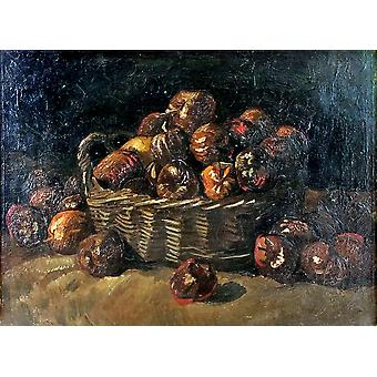 Vincent Van Gogh - Still Life with Apple Basket, 1885 Poster Print Giclee