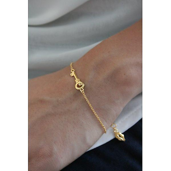 W.A.T Gold Plated 925 Sterling Silver Key Bracelet By Kissika