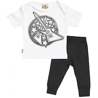 Spoilt Rotten Guitar Babygrow & Jersey Trousers Outfit Set