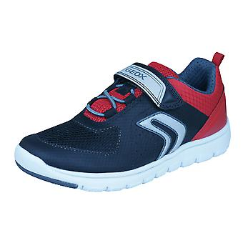 Geox J Xunday B B Boys Trainers / Shoes - Black and Red