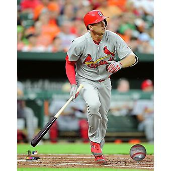 Stephen Piscotty 2017 Action Photo Print