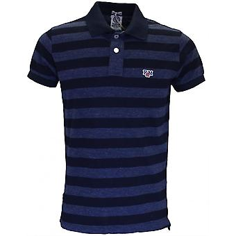 Franklin & Marshall Regular Fit Stripe Blue Melange Polo