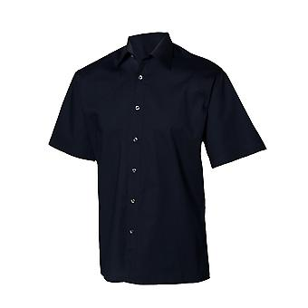 Henbury Mens Short Sleeve Fitted Work Shirt